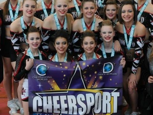 Valley Elite's top level team 'Big Red' competed in the Cheer Worlds in Orlando Florida in 2014