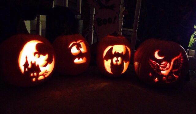 Garavaglia Family Pumpkins. Tina (41), Faith (15), Hope (9) and Ken (43).