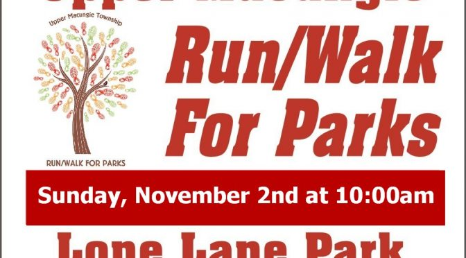 Upper Macungie Township 5K & Walk to Benefit local trail system