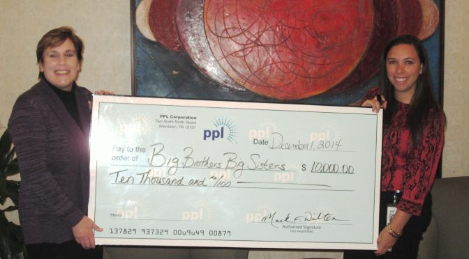 PPL Invests $10,000 to Expand Big Brothers Big Sisters' Mentoring Programs