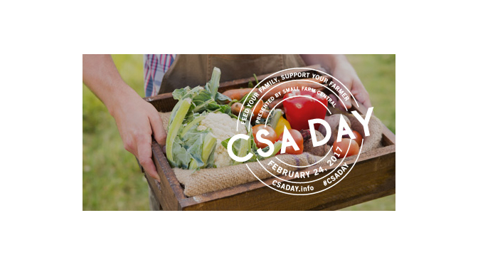CSA Day Offers Second Chance for New Year's Resolutions Celebrate Community-Supported Agriculture on Feb. 24