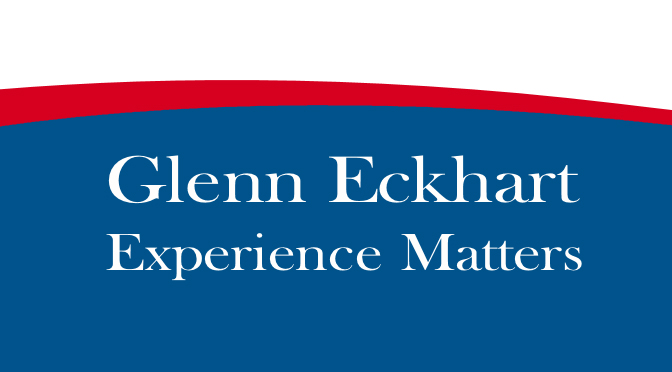 GLENN ECKHART KEPT HIS PROMISES