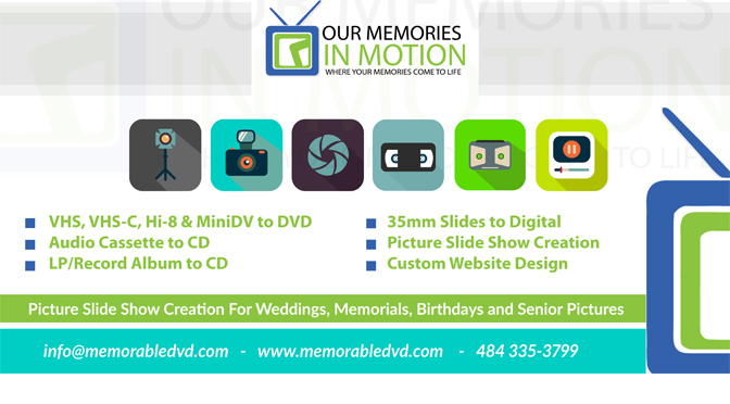 Our Memories in Motion – Local Listing