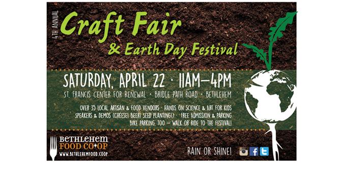 Bethlehem Food Co-op's 4th Annual Craft Fair & Earth Day Festival on Saturday 4/22