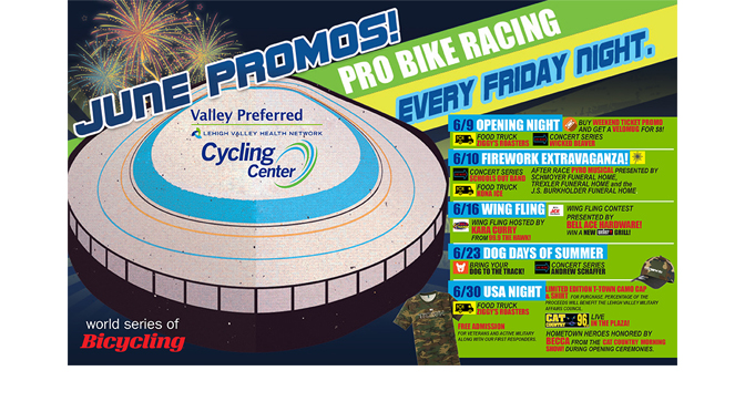 June Promo Schedule Unveiled for Valley Preferred Cycling Center
