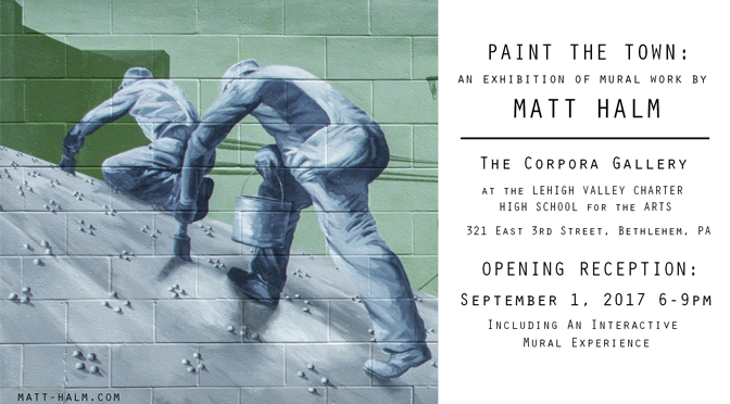 FREE Opening Reception for Matt Halm's Exhibition of Mural Work entitled:  Painting the Town