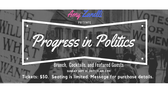 "Zanelli Hosts ""Progress in Politics"" in Allentown Sept. 10th"