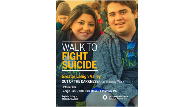 Out of the Darkness Walk on Sunday, October 8, 2017