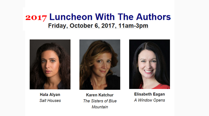 Society of the Arts October 6 Luncheon  With The Authors Features Three Women Authors