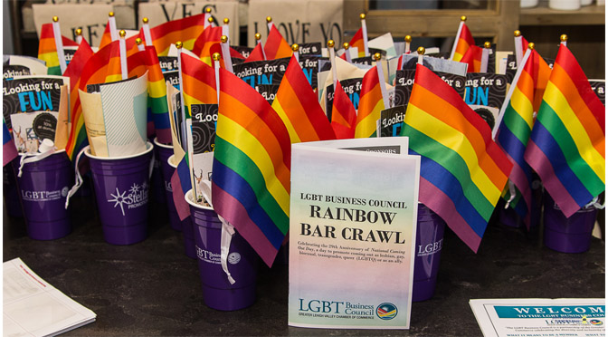 "LGBT Business Council ""National Coming Out Day with a Rainbow Bar Crawl"" – Photos by: John DelGrosso"