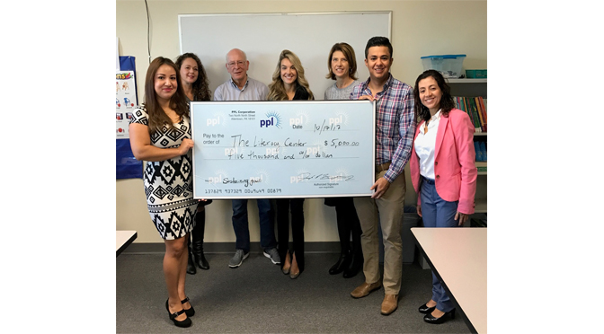 THE LITERACY CENTER RECEIVES $5,000 GRANT FROM THE PPL FOUNDATION