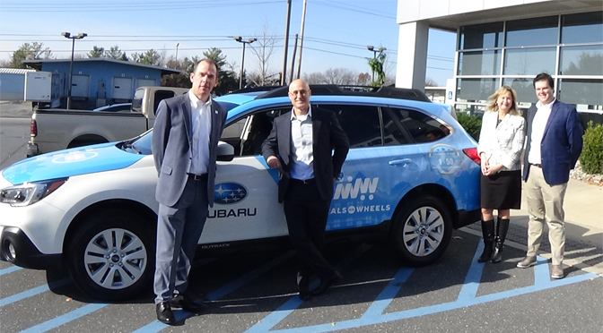 """Meals On Wheels of Northampton County Receives 2018 Subaru Outback in Celebration of Subaru's 50th Anniversary and """"Love Promise"""""""