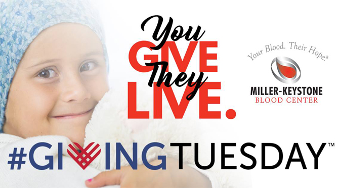 PCFLV To Host 2nd Annual Giving Tuesday Blood Drive at Miller-Keystone Blood Centers