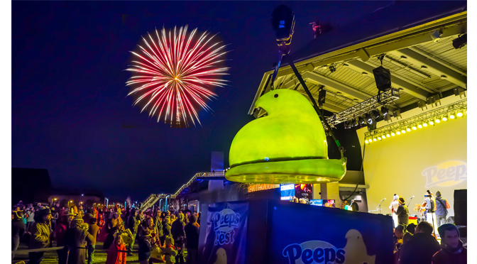 STEELSTACKS CELEBRATES THE NEW YEAR WITH PEEPSFEST® & DROP OF 400-POUND PEEPS® CHICK