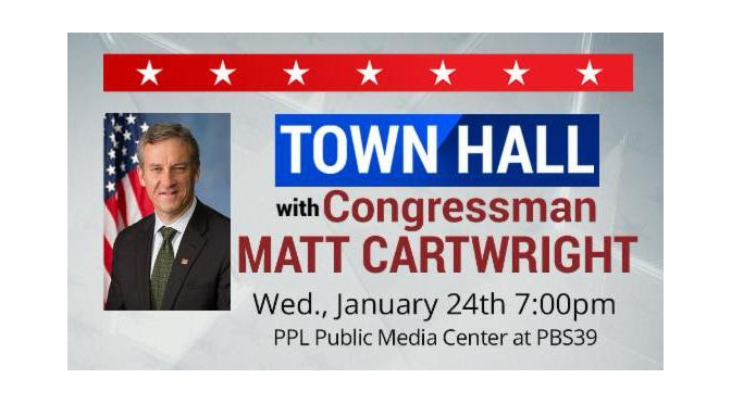PBS39 to Host Town Hall Meeting with U.S. Representative Matt Cartwright