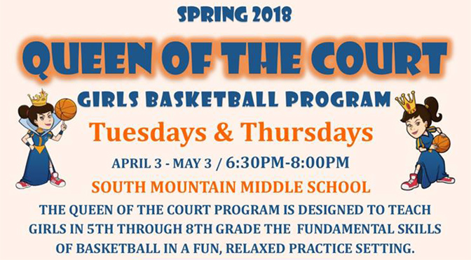 Allentown Department of Parks & Recreation's Spring Queen of the Court Pasketball Program