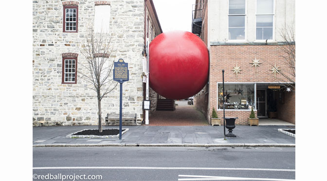 THE GIANT REDBALL HAS ARRIVED IN BETHLEHEM!