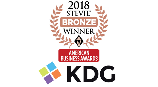 KDG  HONORED AS AN INFORMATION TECHNOLOGY DEPARTMENT OF THE YEAR BY 2018 AMERICAN BUSINESS AWARDS®