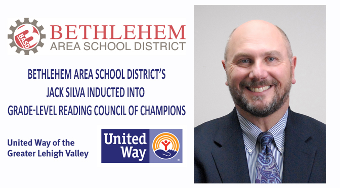 Bethlehem Area School District's Jack Silva Inducted Into Grade-Level Reading Council of Champions