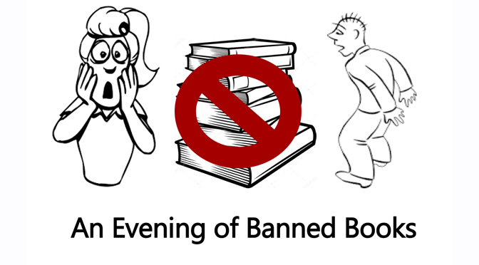 An Evening of Banned Books on Tuesday, September 25th from 6-8pm.