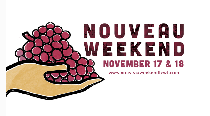 TASTE NEW LEHIGH VALLEY WINES AT NINE LOCAL WINERIES DURING NOUVEAU WEEKEND, NOV. 17 & 18