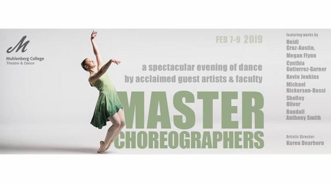 Muhlenberg College 'Master Choreographers' dance concert, Feb. 7-9, showcases talents of acclaimed choreographers, 70+ dancers
