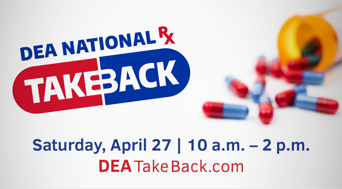 DRUG TAKE BACK APRIL 27