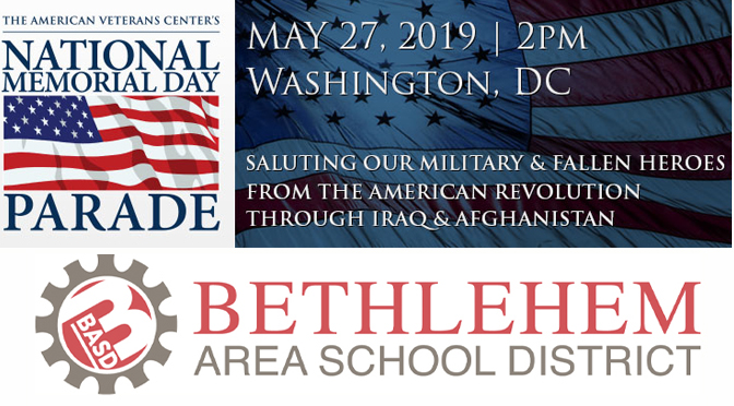 Nitschmann Middle School Marching Band to be a representative of Pennsylvania in the 2019 National Memorial Day Parade in Washington, D.C.