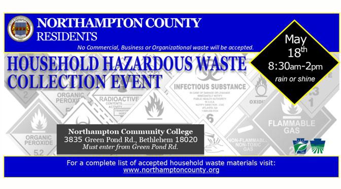 Household Hazardous Waste Collection Event – Northampton County