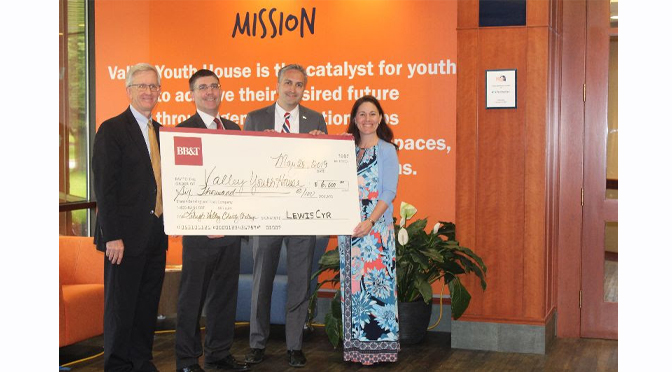 Valley Youth House Receives $6,000 Donation from BB&T for Charity Challenge