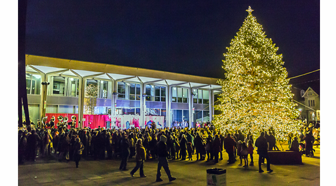 "Photos from the ""Christmas City Annual Tree Lighting Ceremony"" 