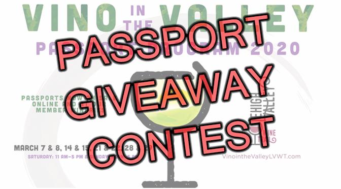 *** UPDATED*** 2020 Vino in the Valley Passport Giveaway