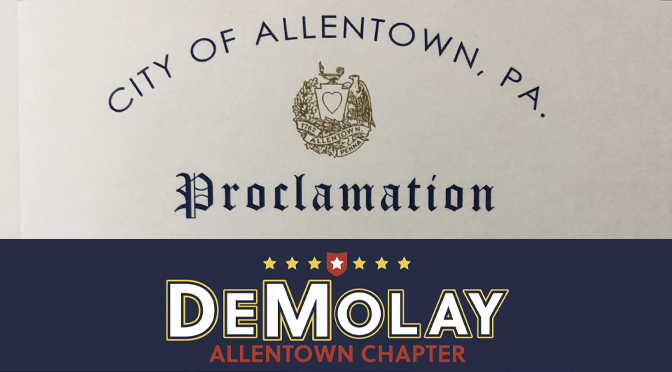 City of Allentown recognizes DeMolay Month in Allentown