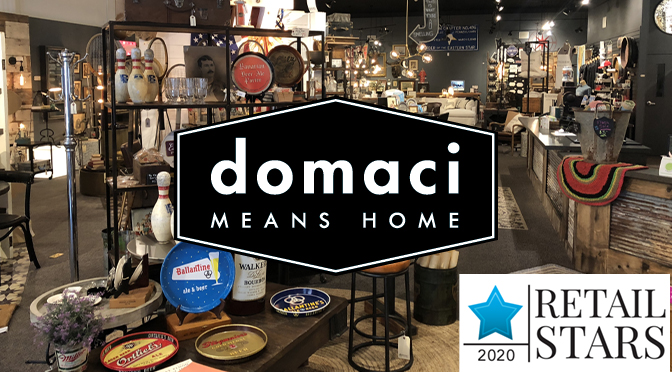 LOCAL FURNITURE & HOME DECOR RETAILER DOMACI HONORED FOR EXCELLENCE BY 'HOME ACCENTS TODAY' MAGAZINE