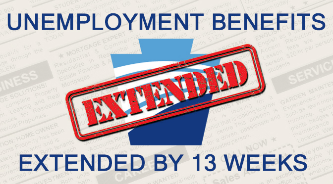 Unemployment Benefits Extended by 13 Weeks