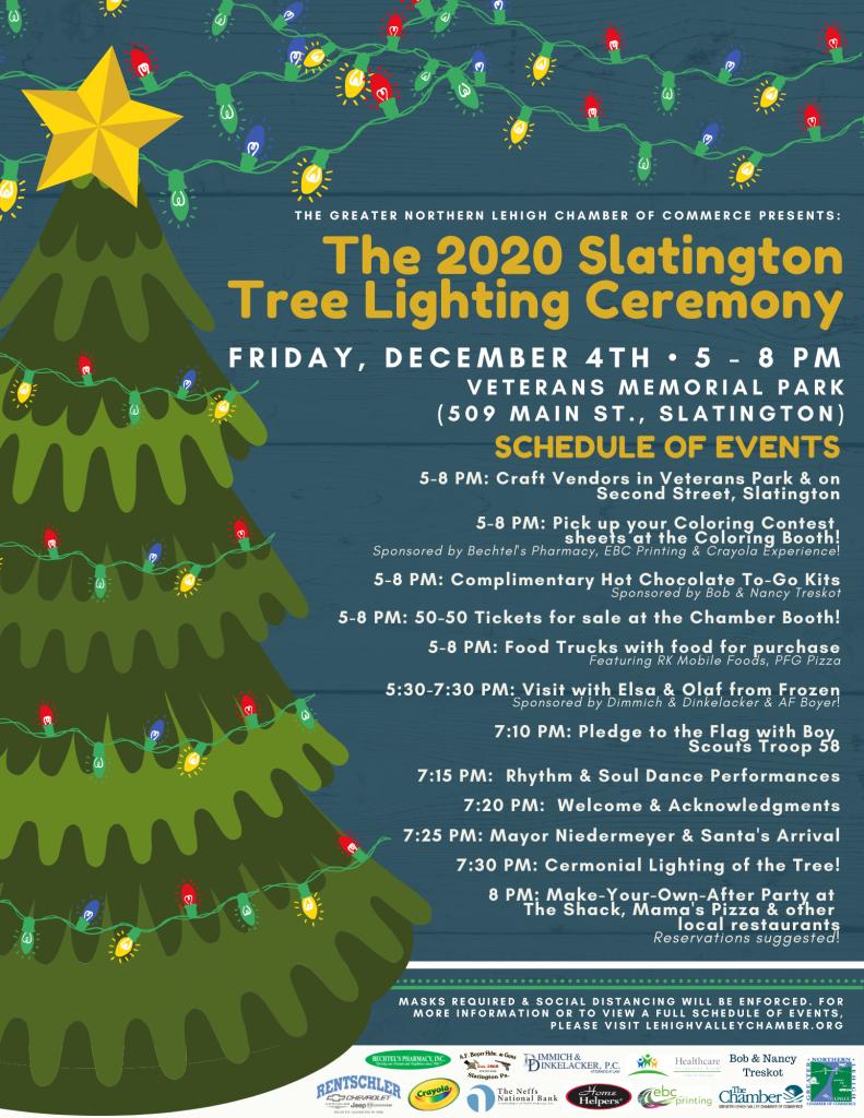 Slatington Tree Lighting event