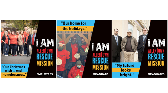 Allentown Rescue Mission's December Billboards