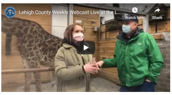 Lehigh County Weekly Webcast Live at the Lehigh Valley Zoo