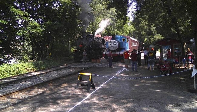 Thomas The Tank Engine came by Phillipsburg for a visit! by Stewart Brodian