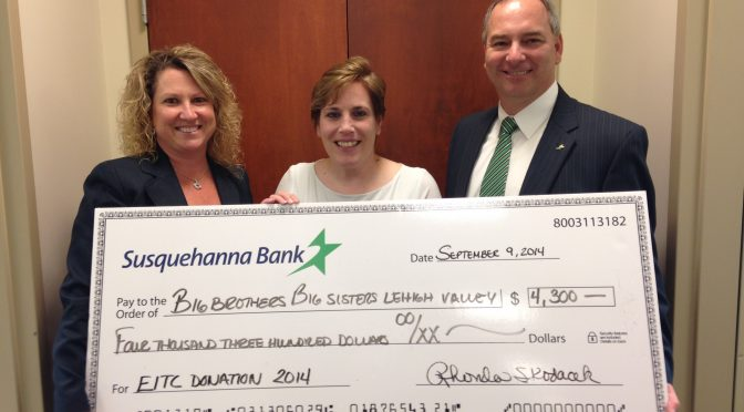 Susquehanna Bank Invests $4,300 in Big Brothers Big Sisters' School-Based Programs