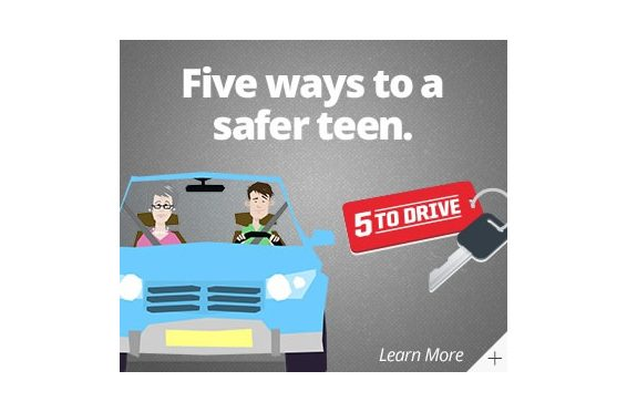 "Talk to Your Teen Drivers About the ""5 to Drive"""