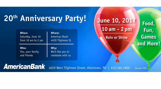 American Bank to Host 20th Anniversary Celebration on June 10th