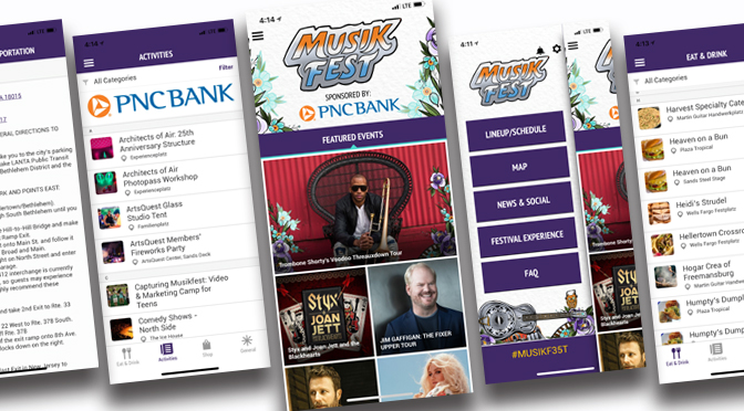 2018 Musikfest App Features Personal Scheduling, What's Hot and New Stickers Keyboard for Festival Goers