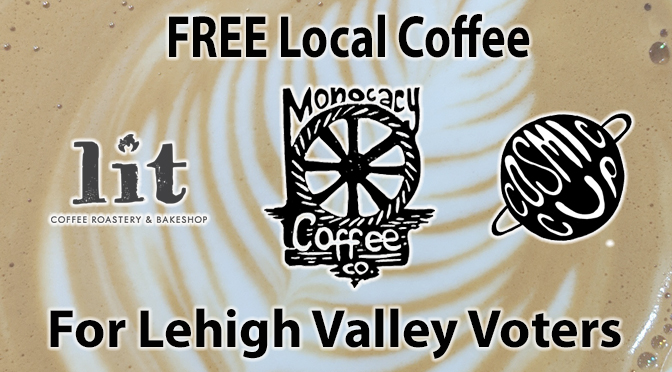 Free local roasted coffee for voters this Election Day