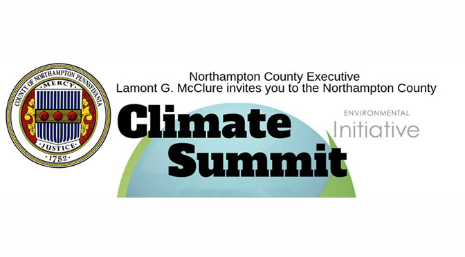 Lamont McClure and the Department of Community and Economic Development (DCED) held Northampton County's first Climate Summit at Lehigh University