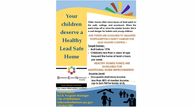 INFORMATION ON LEAD PAINT REMEDIATION MADE AVAILABLE AT ELEMENTARY SCHOOL OPEN HOUSES