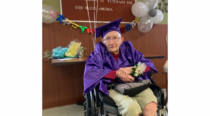 Cedarbrook Fountain Hill Resident Celebrates 100th Birthday and High School Graduation