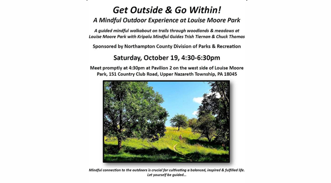 Mindful Outdoor Experience at Louise Moore Park