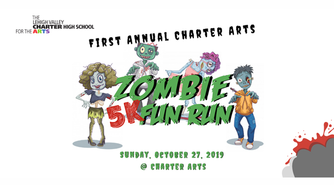 The Charter Arts Foundation will hold its First Annual Zombie 5K Fun Run on Sunday, October 27th!