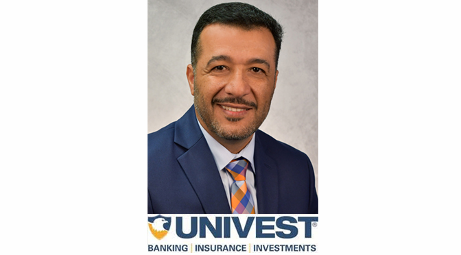UNIVEST BANK AND TRUST CO. APPOINTS AYMAN MOSTAFA  AS BUSINESS DEVELOPMENT OFFICER